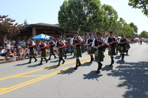 Novato 2013 4th of July Parade bagpipers