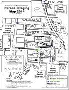 Novato 4th of July Parade staging map
