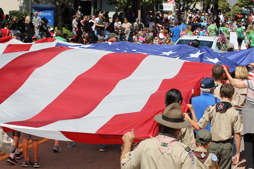 Marin Boy Scouts in Novato July 4th Parade