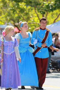 Cinderalla and Prince Charming in Novato July 4th Parade