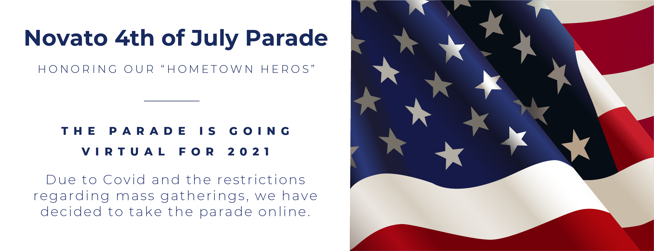 Novato 4th of July Parade Announcement Banner